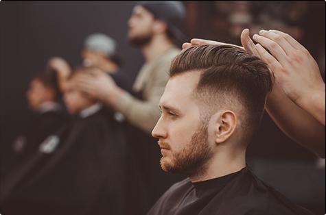Salon de coiffure, coupe pour homme